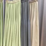 【グレディブリリアン】春らしいシャンブレープリーツスカート
